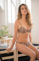 Art 5177 | Conjunto taza soft microfibra estampada animal print c/ less | Talles: 85 al 100 | Color: �nico